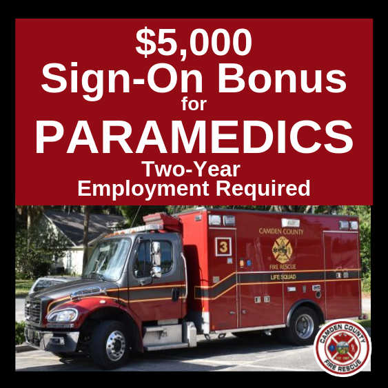 $5,000 Sign-On Bonus for Paramedics Two Year Employment Required