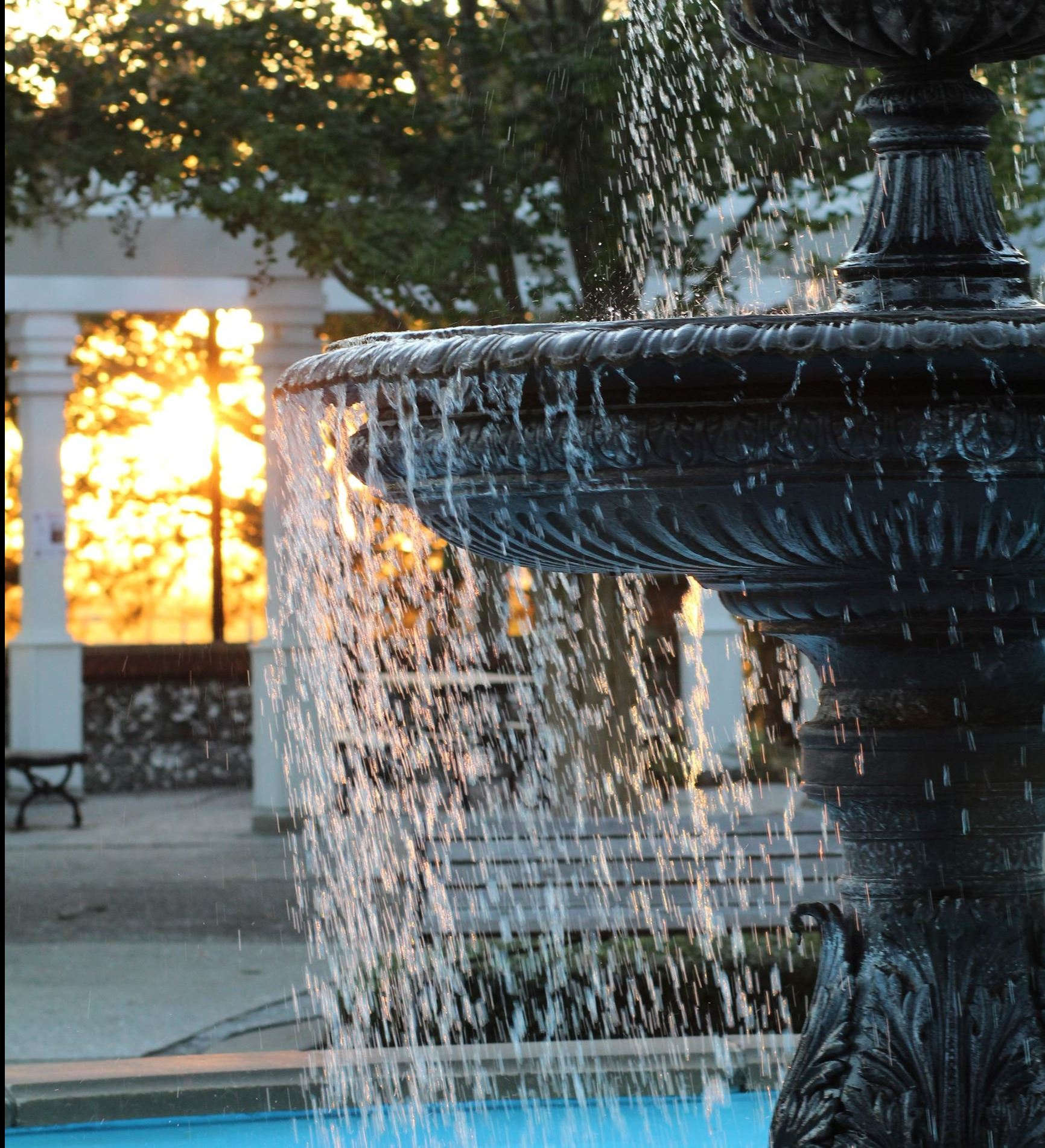 Fountain at St. Marys waterfront