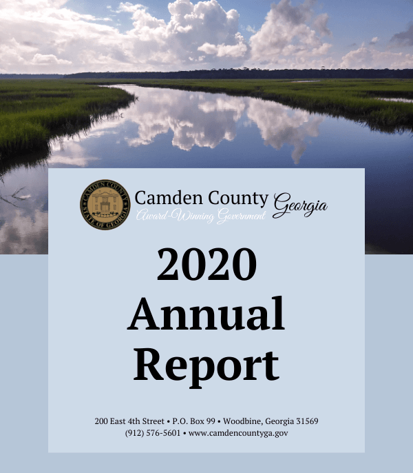 Camden County 2020 Annual Report Cover