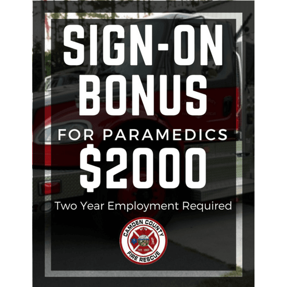 Camden County Fire Rescue Paramedic Sign On Bonus