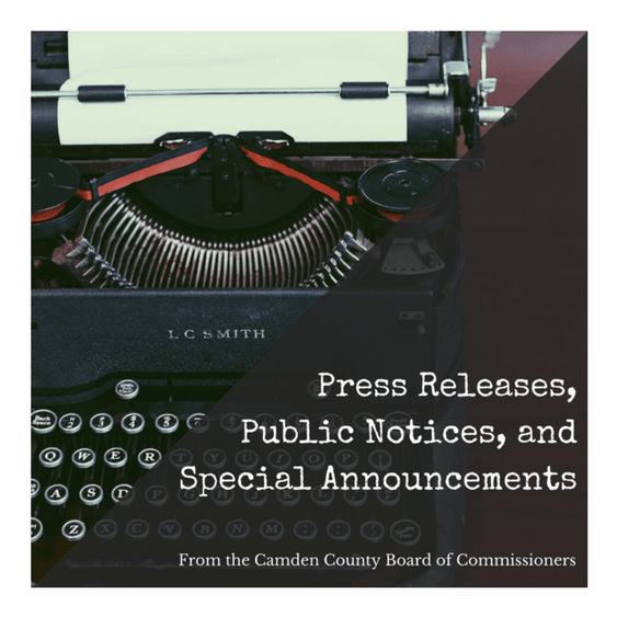 Press Releases, Public Notices, and Special Announcements