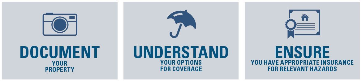 Document Your Property, Understand Your Options for Coverage, and Ensure You Have Appropriate Insura Opens in new window
