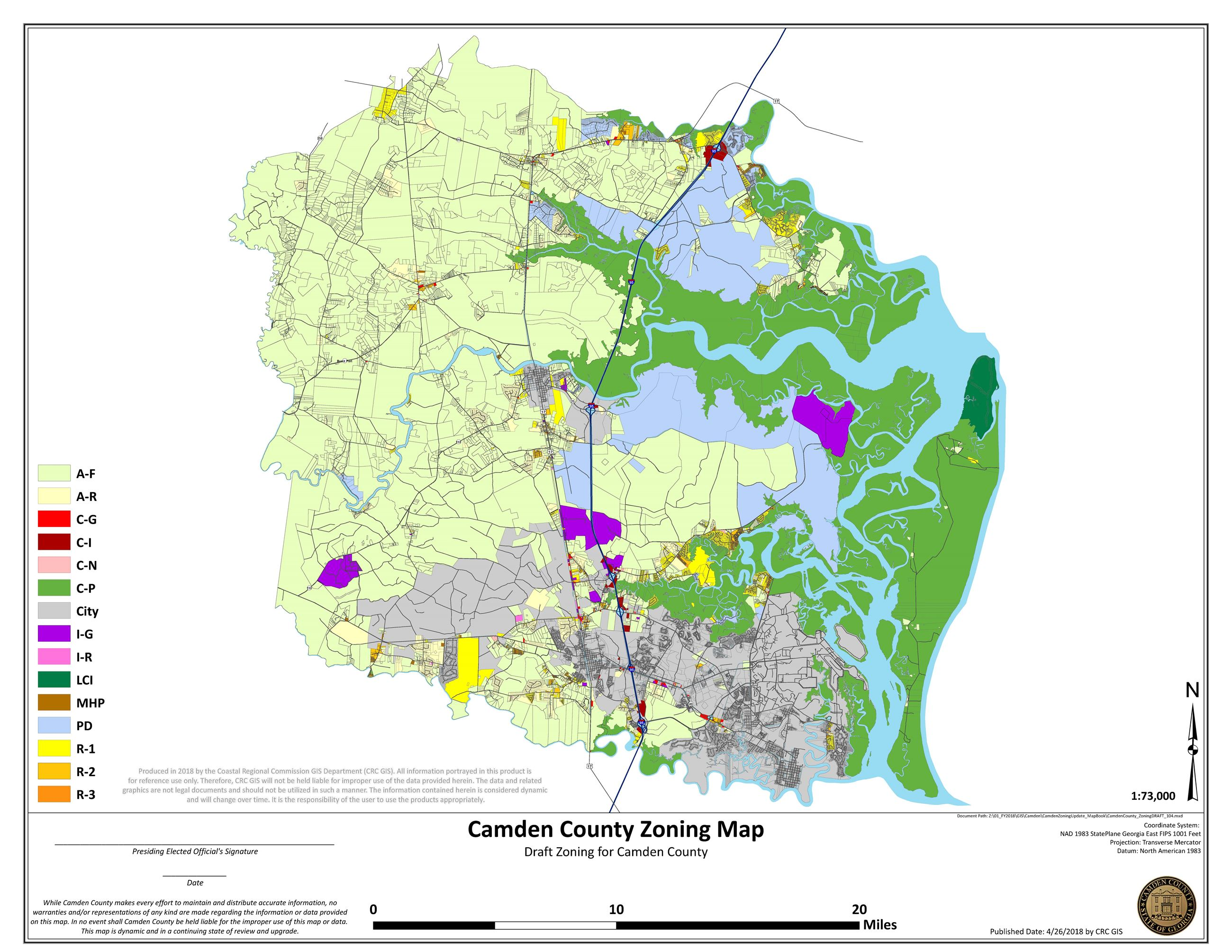 DRAFT Camden County Zoning Map Opens in new window