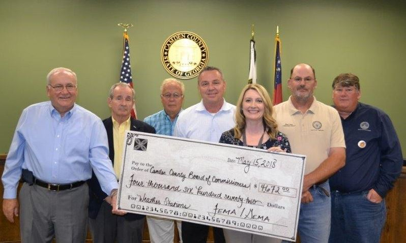 Camden County Receives Grant for Weather Stations